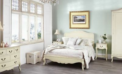 Juliette Shabby Chic Champagne 5FT King size Bed, Cream French bed frame QUALITY 2