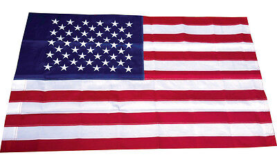 3x5 Ft American Flag EMBROIDERED USA Deluxe Nylon US with POLE POCKET SLEEVE 5