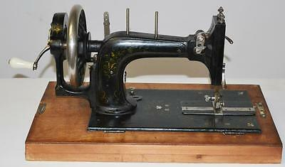 19c FRISTER & ROSSMANN Mother of Pearl Hand Crank Sewing Machine [PL2278] 2