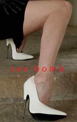 SEXY scarpe decolte estreme BIANCHE da urlo tacco metal 15 n. 39 fashion GLAMOUR 4