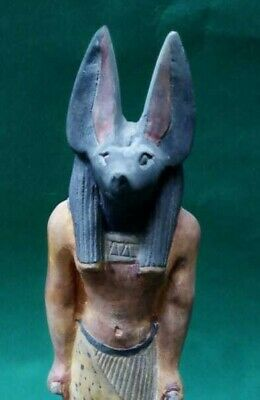 RARE ANCIENT EGYPTIAN ANTIQUES Statue Of God ANUBIS Dead Underworld 1840-1760 BC 8