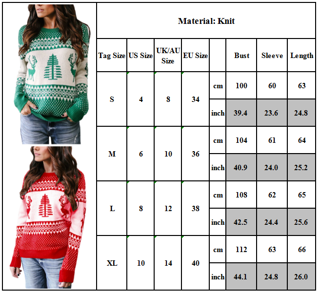 Women Ugly Christmas Xmas Sweater Pullover Jumper Top Sweatshirt Hoodies Blouse 3