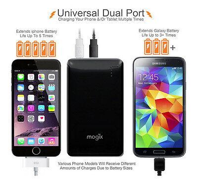 Mogix SlimFit 10400mAh External Battery Fast Dual Port Charge Thin Lightweight 2