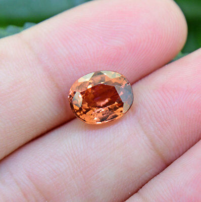 MALAYA GARNET 3.09 Ct. From UMBA Valley Tanzania (00772) RARE UNTREATED