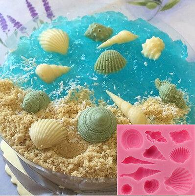 Sea Shells 10-Piece Summer Beach Silicone Mould