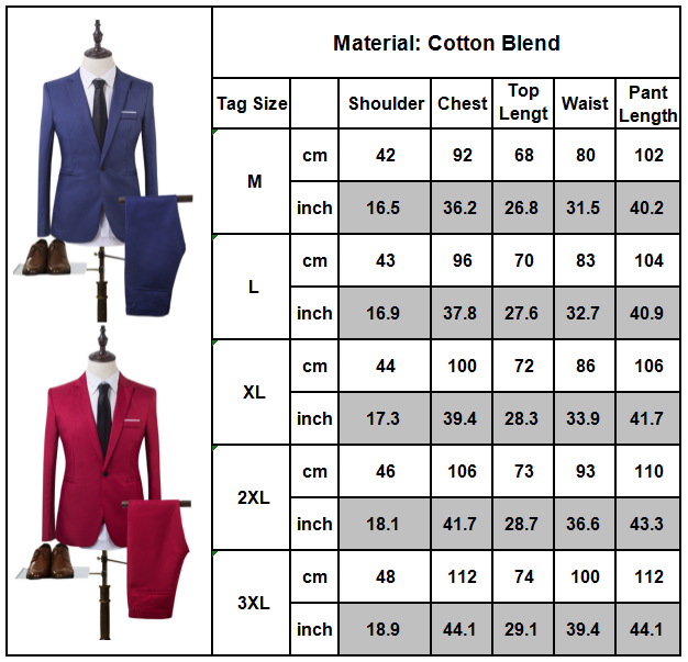 Tuxedos One Button Jacket Pants Slim Fit Mens Business Formal Groom Wedding Suit 2