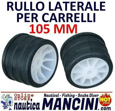 8 Rulli Laterali Ricambio Carrello Mm 105 Barca Gommone Rullo Laterale Trasporto 2