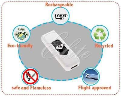 New Slim Usb Lighter Rechargeable Cigar Cigarette Flame less Electronic Lighter 2