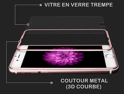 Vitre film protection verre trempé FULL 3D ALUMINIUM iPhone 7/6/6S/8/X/XR/XS/MAX 2