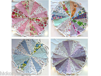 HANDMADE VINTAGE FABRIC BUNTING.Shabby chic floral.WEDDINGS,ANY OCCASION.40FT