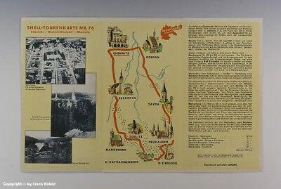 SHELL-TOURENKARTE CHEMNITZ-DEUTSCH EINSIEDEL um 1925