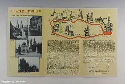 SHELL-TOURENKARTE DRESDEN-ASCHERSLEBEN um 1925