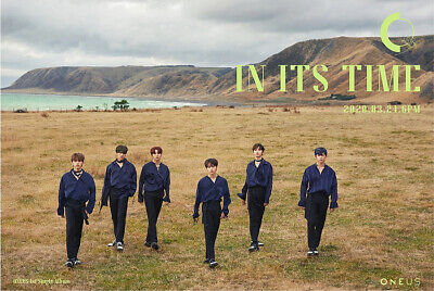 ONEUS IN ITS TIME 1st Single Album CD+POSTER+Photo Book+3p Card+F.Poster+Sticker 2