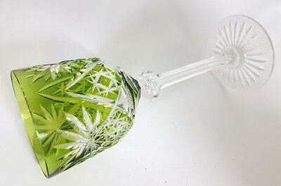 Römer Weinglas eingestochene Luftblase Handschliff Val St Lambert um 1920 AL137 10