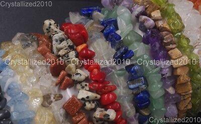 Handmade 5-8mm Mixed Natural Gemstone Chip Beads Stretchy Bracelet Healing Reiki 6