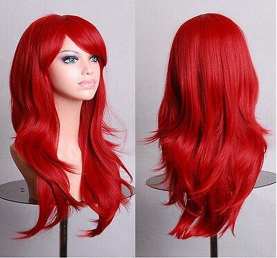 Cosplay Gelockt  Haar Wig Perücke 70cm Halloween Karneval modell7005