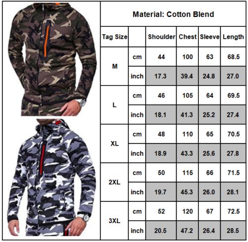 dc7746ed0dd1 1 von 12Kostenloser Versand Herren Camouflage Sportanzug Trainingsanzug  Hoodie Kapuzen Jacke Jogginghose