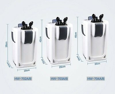 Aquarium Außenfilter Hw-702-704A/B UVC Klärer 400-1000l Becken Filtermaterial 9