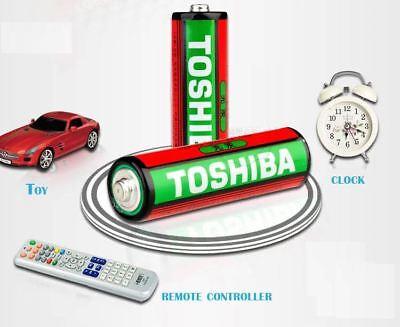 GENUINE TOSHIBA Zinc Carbon AA AAA Battery Super Long Lift Batteries 2