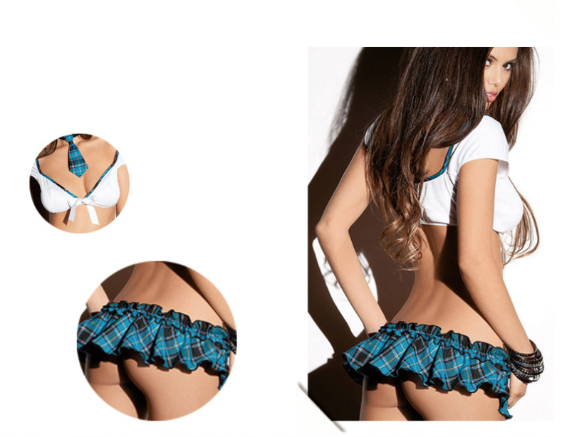 3pcs Womens Sexy/Sissy Lingerie Lace Babydoll G-String Thong Underwear Nightwear 2
