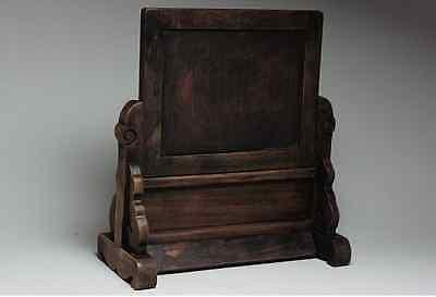 Chinese Qing Dynasty Wooden Screen 硯屏 /  KENBYO / W 25× H 26.5 [ cm ] 901g 5