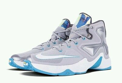80a2845c018 ... 2 of 12 Nike LeBron 13 XIII GS Hologram Basketball Youth US 7 Wolf Grey  Lagoon ...