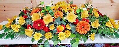Silk Artificial Funeral Flowers Wreath/Memorial/Grave Tribute Wreaths 11