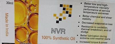 100% Synthetic Oil for lubricating Grandfather Clocks NVR branded 2