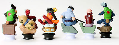 Naruto Character Figures Chess 6pc Set: Uzumaki Kakashi Sasuke Gaara Sakura Mini 4