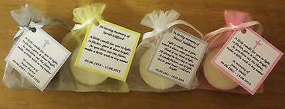 Funeral Personalised Remembrance & any occasion candle favours. Light in memory 6