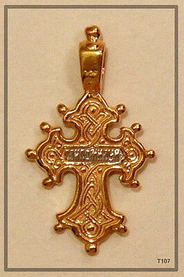 12 Apostles Russian Orthodox Silver Gold Cross Pendant Jesus Christ (T107) 2