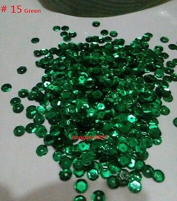HOT DIY 2000 pcs Oval Round Cup Sequins Paillettes Loose AB 6mm Wedding Craft 11