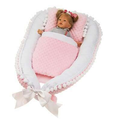 Elegant, exclusive baby nest, cocoon,decorated with decorative gipiure Lafel XL 11