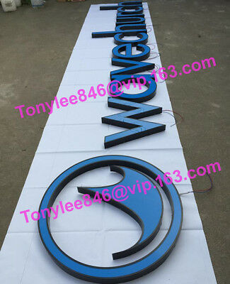 Custom Business Signs Channel Letters Illuminated with LED,15inches tall