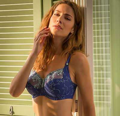 Pour Moi? Imogen Rose 3804 Embroidered Full Cup Bra Marine 32-44 D to J 2