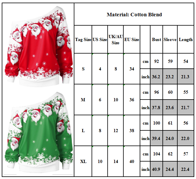 Women Ugly Christmas Xmas Sweater Pullover Jumper Top Sweatshirt Hoodies Blouse 5