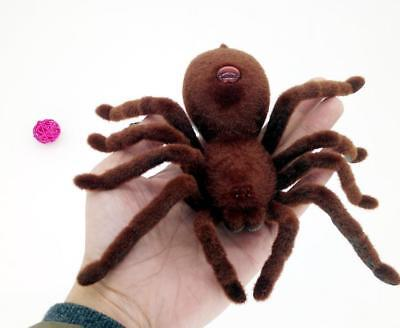 New Remote Control Soft Scary Plush Creepy Spider Infrared Rc Tarantula Kid Gift Toy Gift Electronic Pets