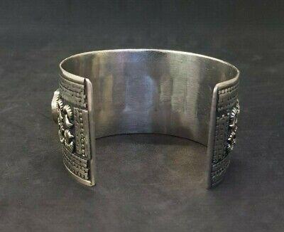Wonderful Silver plated Afgani Adjustable Beautiful Bangle With Lapis Stone #W12 4