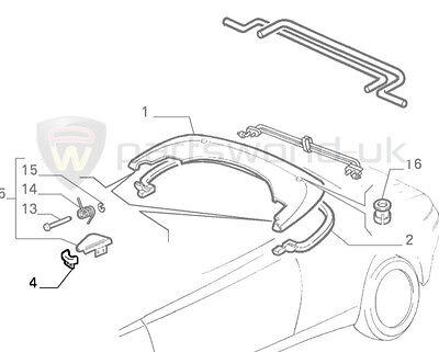 Genuine Brand New Alfa Romeo 916 Spider Electric Folding Roof Switch 152737060