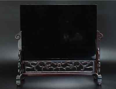 Chinese Old Screen Mother of Pearl 硯屏 /  KENBYO / W 34.2× H 30.3 [ cm ] 4