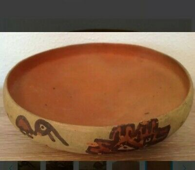 Pre-Columbian pottery bowl with birds - Ica culture Peru - 19 cm 4