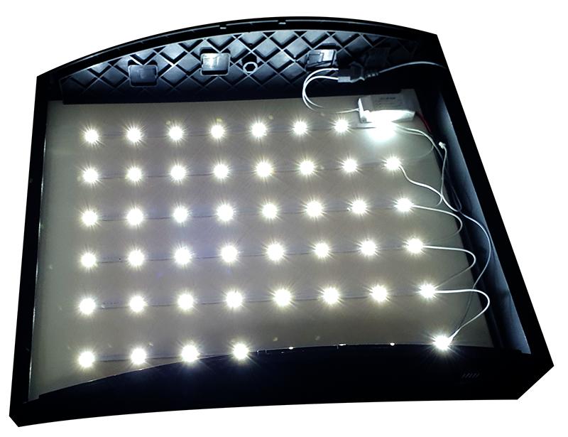 LED Curved Menu Box Illuminated Board Sign Restaurant Take away High Quality 3