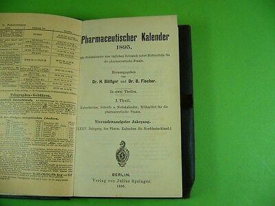 511KB1 PHARMACEUTISCHER KALENDER 1895. Mit Eisenbahnkarte, Postgebühren usw. 2