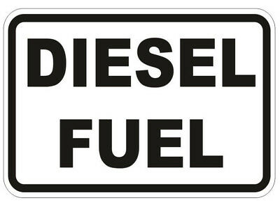 3X DIESEL FUEL Stickers Warning reminder Signs self adhesive viny car taxi  cab
