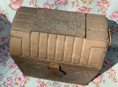Antique Decorative Brass and Timber Wood Treasure Chest Trunk Wine Bottle Box 2