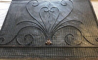 Exceptional Gothic French Art Deco Vent Wall Register Radiator Covers W/ Bronze 2