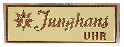 JUNGHANS DISPLAY METALLSCHILD FÜR JUWELIERE - SAMMLERSTÜCK aus den 1950er Jahren