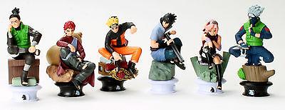 Naruto Character Figures Chess 6pc Set: Uzumaki Kakashi Sasuke Gaara Sakura Mini 5