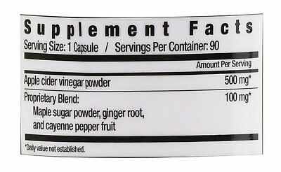 Country Farms Apple Cider Vinegar 500mg with Ginger, Cayenne and Maple 4