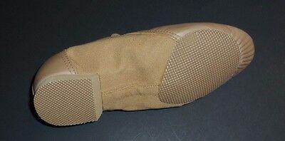 New Bloch SO443L Ladies TAN Economy Hybrid Leather Canvas Split Sole Jazz Shoes
